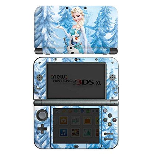 DeinDesign Skin kompatibel mit Nintendo New 3DS XL Aufkleber Sticker Folie Disney Frozen ELSA & Olaf Geschenke Merchandise