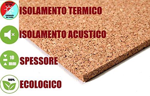 ITALFROM - Pannelli di Sughero da 1 cm - Isolamento Termico, Acustico, Bioedilizia, Coibentazione (24 Pannelli = 12 mq)