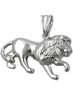 Schmuck Damen und Herren Anhänger Sternzeichen Löwe rhodiniert aus Silber 925 ca. 15 x 23 mm