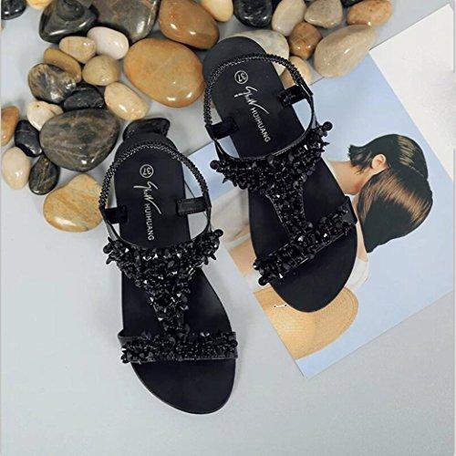 Webla Mädchen Damen Slingback Sandalen Frauen Schuhe Sport Sandalen Sommer Flip Flops Mode flache Gladiator Damen Sommer Sandalen Niedrige Sandalen Zehentrenner Schwarz