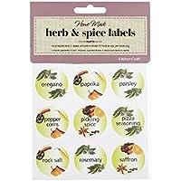 Set Di 45 Kitchen Craft Appiccicose Di Erbe E Spezie Etichette (Confezione da 2)