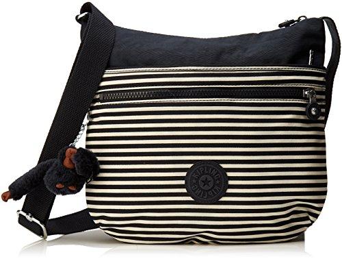 Kipling Damen Arto Umhängetasche, Mehrfarbig (Marine Stripy B), 29x26x4 cm