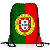 style3 Portugal Turnbeutel Rucksack Tasche Flagge WM EM Sport Beutel Festival Fahne Uni Schule Bunt