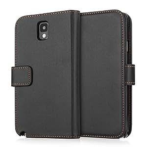 Samsung Galaxy Note 3 Tasche Schwarz PU Leder Brieftasche Hülle