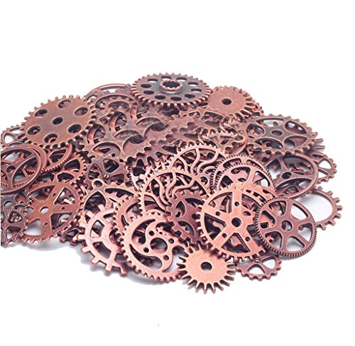 100g Steampunk Gears Charms Jewellery Making Findings (Antique Copper-100g) steampunk buy now online