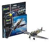 Revell Modellbausatz Flugzeug 1:72 - Spitfire Mk.IIa im Maßstab 1:72, Level 3, originalgetreue Nachbildung mit vielen Details, , Model Set mit Basiszubehör, 63953