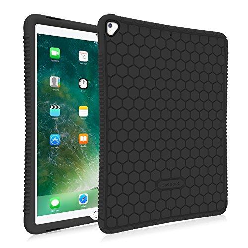 Fintie Silikon Hülle für iPad 12.9 - [Bienenstock Serie] Leichte Rutschfeste Stoßfeste Schutzhülle Tasche Case Cover für iPad Pro 12.9 2. Generation 2017/1. Generation 2015, Schwarz