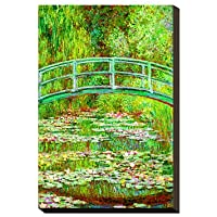 FanVass Lo stagno Waterlily con il ponte
