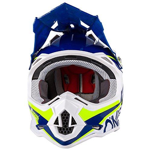 O'Neal 2Series RL Spyde Motocross MX Helm Enduro Trail Quad Cross Offroad, 0200, Farbe Blau, Größe M -
