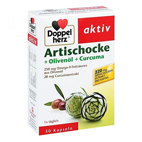 DOPPELHERZ Artischocke+Olivenöl+Curcuma Kapseln 30 St Kapseln