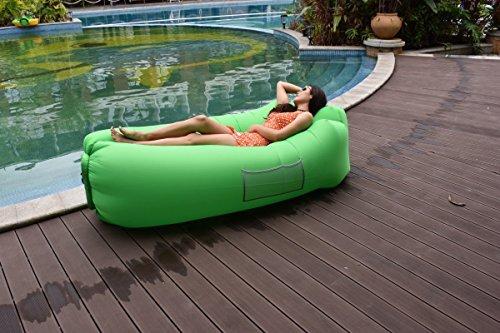 DTOC Wasserdichtes Aufblasbares Air Sofa Lazy Lounger Bed Luft Sitzsack  Liege Tragbar Air Betten Schlafen Sofa