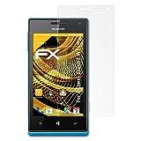 atFoliX Schutzfolie für Huawei Ascend W1 Displayschutzfolie - 3 x FX-Antireflex blendfreie Folie
