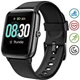 UMIDIGI Smartwatch Fitness Tracker Uwatch3, Armbanduhr Sportuhr Smart Watch für Damen Herren Kinder mit Herzfrequenz Schlaftracker 5 ATM Wasserdicht Kompatibel mit Android und IOS, Schwarz