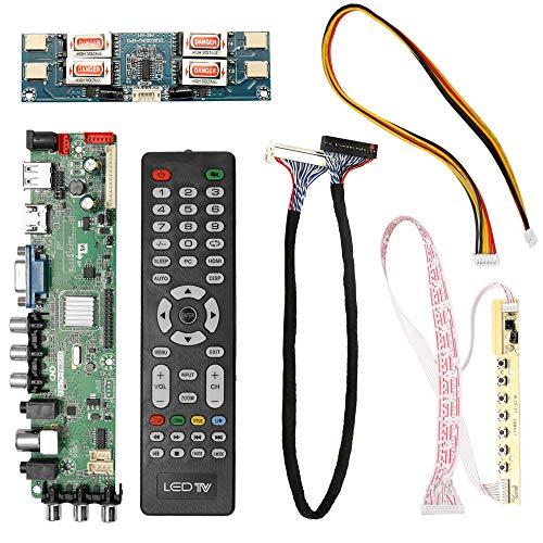 Hylotele DTV3663-AS V2.0 Digitales TV-Board DVB-T2 Universal LCD-LED-Controller-Treiberplatine mit Kabelinverter -