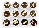 Trendige Nailart Overlays 1 x 2 Stück (aus einer Auswahl von 12 Motiven) im Schraubdöschen