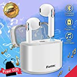 Wireless Earphones, Bluetooth Headphones with Mic Compact In-Ear Mini Cordless Stereo Wireless Earbuds