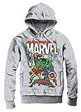 Marvel original Comics Superhelden Heroes KAPUZENPULLOVER Hoodie Sweeter Pullover THE AVENGERS sportsgrey Gr. S-XL