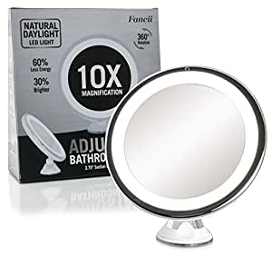 Fancii Daylight Led 10x Magnifying Makeup Mirror 8 0