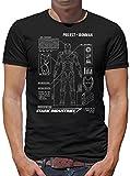 Project Ironman T-Shirt Herren M Schwarz
