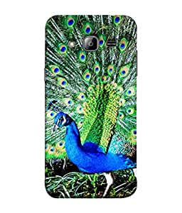 FUSON Designer Back Case Cover for Samsung Galaxy On5 Pro (2015) :: Samsung Galaxy On 5 Pro (2015) (Nice Colourful Long Attract His Mate Peacock Feathers Beak)