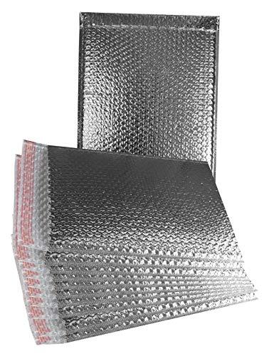 Cool Shield Luftpolsterversandtaschen, 11 x 15 cm, 10 Stück Thermopolstertaschen 11 x 15 cm Großes Kissen für Lebensmittel. Haftklebung. Thermo-Versandtaschen zum Versenden Verpacken Großhandelspreis. (Große Mailing-taschen)