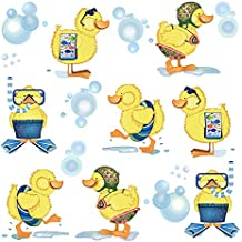 ufengke Pegatinas de Pared Patos Amarillos Vinilos Adhesivos Pared Baño Decorativos para Habitación Infantiles ...