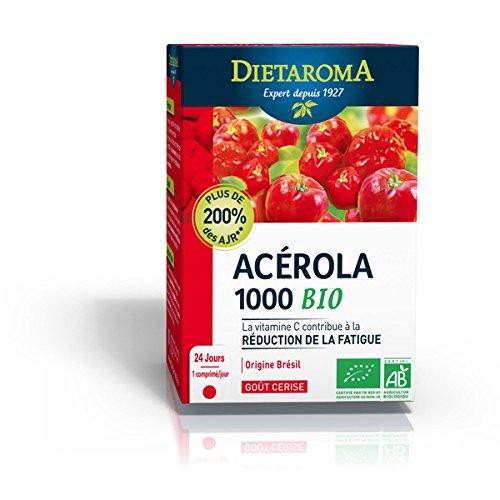 Acérola 1000 Bio Goût Cerise - 24 Comprimés