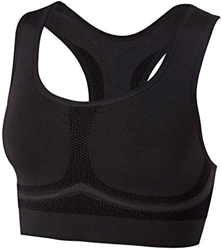 CRIVIT® Damen Sport-BH, Seamless Shapeware, High Level, schwarz, Gr. S -