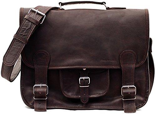 La Cartella (L), INDUS borsa pelle vintage, la borsa a mano, borsa a tracolla, (A4), PAUL MARIUS, Vintage & Retro