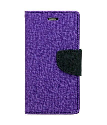 CHL Fancy Wallet Dairy Flip Case Cover for Yu Yuphoria Flip Cover 5010 - Purple