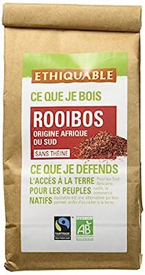 Ethiquable Rooibos Afrique du Sud Vrac Bio et Équitable 100 g Max Havelaar - Lot de 3