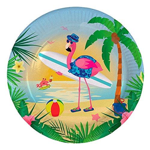 (Folat 8 Party-Teller * Flamingo * für Mottoparty Oder Kindergeburtstag // Pa)