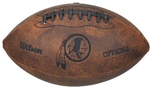Gulf Coast Sales NFL Vintage Throwback Fußball, 22,9 cm, Unisex-Erwachsene, Washington Redskins Washington Nationals-laser