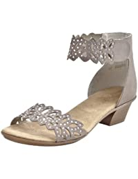 Rieker 608B9 45 Taupe Womens Sandals | Rogerson Shoes