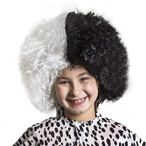 SeeMeInThat Kinder Mädchen Cruella Perücke Dalmatiner Dalmatiner Kostüm Zubehör - Cruella Kostüm Kind