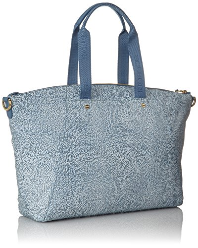 Borbonese Damen Con T Shopper, 40x28x13 Centimetri Blau (mar)