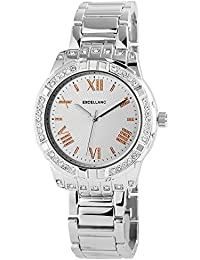 Excellanc  - Reloj de cuarzo para mujer, correa de diversos materiales color plateado