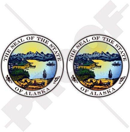 Alaska State Seal USA American Alaskan 75mm (7,6cm) Bumper Sticker, Aufkleber Vinyl X2