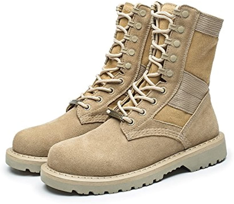 GUNAINDMX  Martin Martin Martin stivali Men's scarpe Military stivali Wild,40 Standard Leather scarpe Dimensione,Beige High to Help Male... | Materiali Di Prima Scelta  | Maschio/Ragazze Scarpa  85cca4