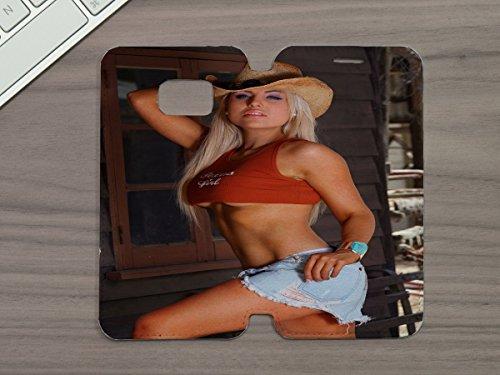 (LEotiE SINCE 2004 Handy Tasche Passend Fãœr Samsung S6 Sexy Fun Sexy Girl Pin up Blond)