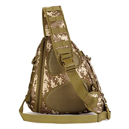 cinmaul squilibrerebbe singola spalla Crossbody petto Borsa caccia campeggio trekking Heavy Duty Corriere Militare Tattico Sport Sopravvivenza Pack, Uomo, Camouflage Desert Camouflage