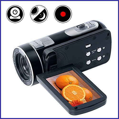 Camcorder Videokamera Full HD Digitalkamera Portable Mini Handheld Camcorder Digital Camcorder mit IR Nachtsicht 24.0 Megapixel DV 3 'LCD Bildschirm 18X Digitalzoom