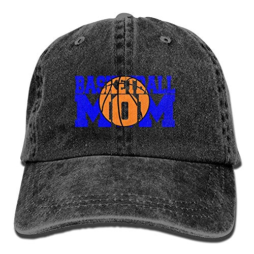 Unisex Adult Basketball Mom Sports Washed Denim Cotton Sport Outdoor Baseball Hat Trucker Hat Adjustable One Size Natural