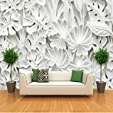 Wh-Porp 3D sterreoskopisches Blatt Motiv aus Gips Relief Wand Papier Wohnzimmer Tv Hintergrund Malerei Tapete Dekoration Zuhause