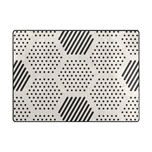 mydaily Abstrakt Geometrische Sechseck mit Streifen und Dot Bereich Teppich 4'x 5' 7,6cm Wohnzimmer Schlafzimmer Küche dekorativ Einzigartige leicht bedruckt Teppiche, Polyester, multi, 4'10