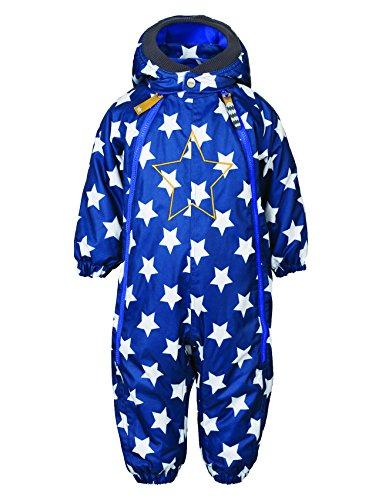 Racoon Baby - Jungen Schneeanzug SKJOLD BABY STAR (9.000 Wassersäule), Sternchen, Gr. 74, Blau (Ensing blue ENS)
