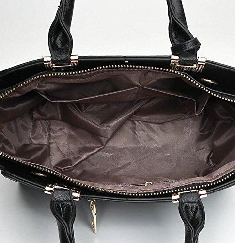 Mode Handtaschen Kreuzförmigen Streifen Schrägen Kreuz Handtaschen Vier Jahreszeiten Wilden Damen Tasche Grey