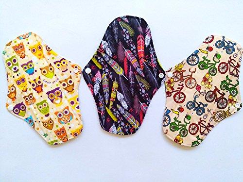 Preisvergleich Produktbild 325,4cm anthrazit Bambus Tuch wiederverwendbar waschbar Pads Menstruationstasse Damenbinden Slipeinlagen