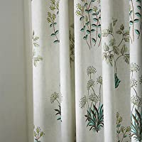 mzmz caldo protezione e rumore reducting due pannelli Avorio Floreale/Botanical/poliestere