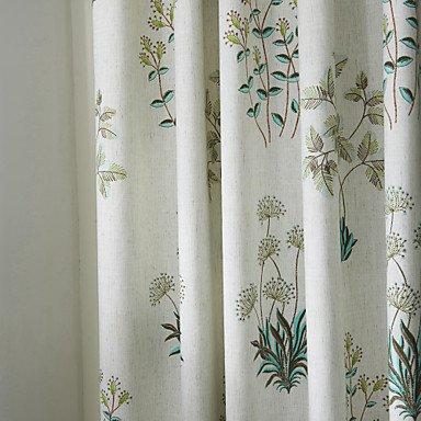 Mzmz Warm proteggere & Noise Reducting due pannelli avorio floreale/botanica Poly/cotone misto pannello Yes - Beige Lining
